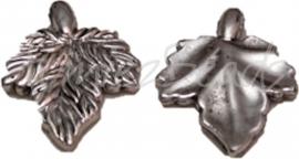 03008 Metallook Bedel blad Antiek zilver 35mmx26mm