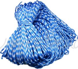 PARA-4015 Parakoord Blauw-wit 4mm 6 meter