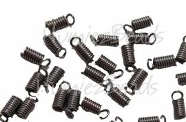 00806 Spiraalklemmetje Zwart (Nikkelvrij) 6mmx9mm 20 stuks