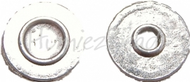 01234 Spacer revet Antiek zilver (nikkelvrij) 20 stuks