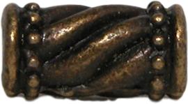 01362 Spacer vat gestreept Antiek brons 7 stuks