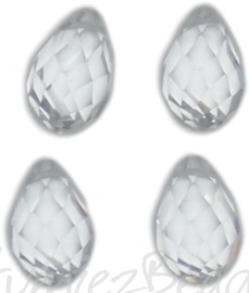 04347 Glaskraal druppel Chrystal 4 stuks