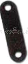 04140 Tussenstuk 2-gaats Zwart (Nikkelvrij) 12mmx3mm; gat 1,5mm ±20 stuks