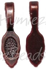 01056 Plakoog voor hangers (glue on bail) Antiek koper (nikkelvrij) 6 stuks