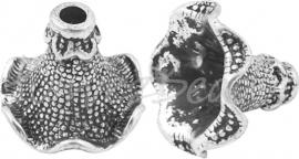 00888 Kralenkap kelk Antiek zilver (Nikkelvrij) 17mmx23mm 3 stuks