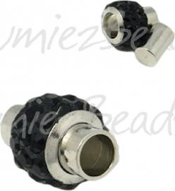 03859 Magneetslot Metaalkleurig/zwart 14mmx9mm; gat 4mm 1 stuks