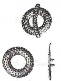 00501 Kapittelslot spot 2-draads Antiek zilver (Nickel vrij) 31mm
