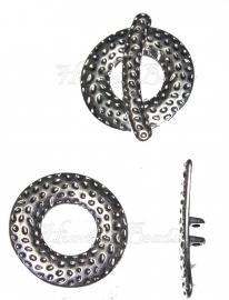 00501 Kapittelslot spot 2-draads Antiek zilver (Nikkel vrij) 31mm 3 stuks