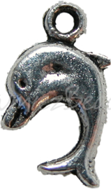 00182 Bedel dolfijn Antiek zilver
