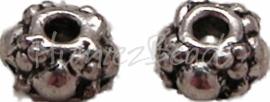 00872 Spacer daisy dwars Antiek zilver (Nikkel vrij) 2mmx6,5mm 20 stuks