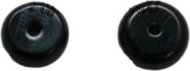 01829 Glaskraal Abacus Zwart 3mmx8mm; gat 1mm 20 stuks