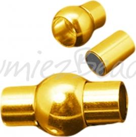 03944 Magneetslot Goudkleurig (Nikkelvrij) 17mmx8.5mm; gat 4mm 1 stuks