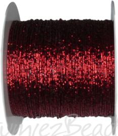 C-0081 Koperdraad met draad omwikkeld Roodmetallic 0,5mm 100 meter