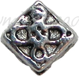 00259 Spacer diamantmodel Antiek zilver 5mm 20 stuks