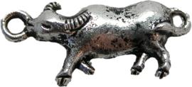 01682 Bedel / tussenstuk os Antiek zilver 23mmx10mm 4 stuks