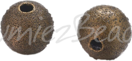 02507 Stardust kraal Brons 6mm 15 stuks