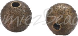 02507 Stardust kraal Brons 6mm; gat 1,5mm 15 stuks