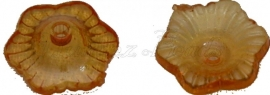 00798 Acrylkraal kralenkap Oranje 11mm 10gram (±50 stuks)