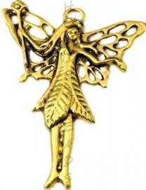 00946 Bedel elf Antiek goud (Nickel vrij) 49mmx39mm