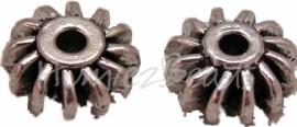 00193 Spacer tandwiel Antiek zilver (Nikkel vrij) 6 stuks