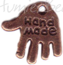 00282 Bedel hand made Antiek koper (Nickel vrij) 11mmx12mm