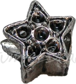 00389 Pandorastijl ster Antiek zilver 11mmx13mm