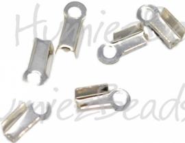 01621 Veterklem Zilverkleurig (Nikkelvrij) 6mmx3mm 20 stuks