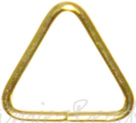 04122 Ringetjes Driehoek Goudkleurig (Nikkelvrij) 8mmx0,7mm ±50 stuks