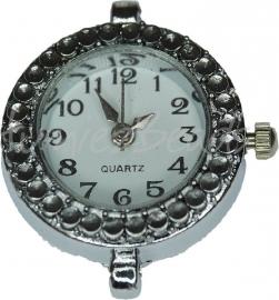 02165 Horloge Antiek zilver 1 stuks