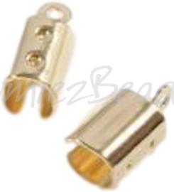 04090 Veterklem Goudkleurig (Nikkelvrij) 10mmx4mm 6 stuks