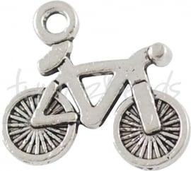 00716 Bedel fiets Antiek zilver  (nikkel vrij) 11 stuks