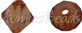 00496 Acryl kraal facet Bruin 9mmx7mm 20gram