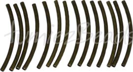 01269 Buiskraal ribbel Antiek brons 35mmx2mm; gat 1mm 14 stuks