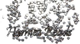 02076 Spacer vierkant Antiek zilver (Nikkelvrij) 3mm; gat 1mm 50 stuks