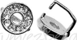 02256 Tussenhanger strass Metaalkleurig (Nikkelvrij) 10mm; pin 2x1,5mm 1 stuks