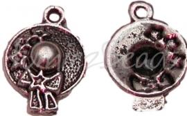 00210 Bedel hoedje Antiek zilver 18mmx13mm