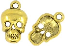 04429 Bedel Doodshoofd Antiek goud (Nikkelvrij) 16mmx10mmx2,5mm; Gat 2mm 1 stuks