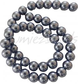 03612 Glasparel streng (±40cm) Grijsblauw 10mm 1 streng