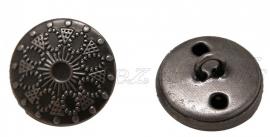 01449 Kraal knoop Germaans Gunmetal (Nikkelvrij) 18mmx9mm 4 stuks