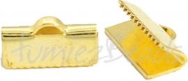 03698 Bandklem Goudkleurig (Nickel vrij) 13mmx4mm 8 stuks