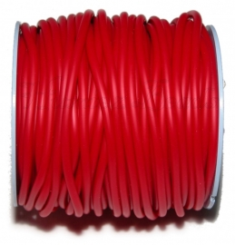 R-4005 Rubberkoord hol Rood 4mm; gat 1,5mm 3 meter