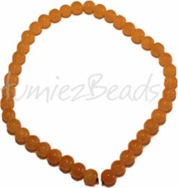 03586 Glaskraal streng (±40cm) imitatie jade Oranje 10mm 1 streng