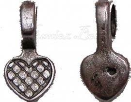 00440 Plakoog voor hangers (glue on bail) Antiek zilver (Nikkelvrij) 16mmx8mm 5 stuks