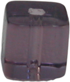 01919 Glaskraal vierkant Paars 4mm 1 streng (±30cm)