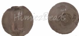 02928 Glaskraal zilverfoil rond Zilver 10mm