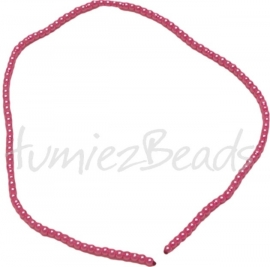 03430 Glasparel streng (±30cm) Rose 3mm 1 streng