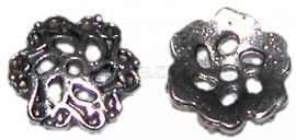 02491 Kralenkap Cirvla Antiek zilver (Nikkelvrij) 13mmx2mm 11 stuks