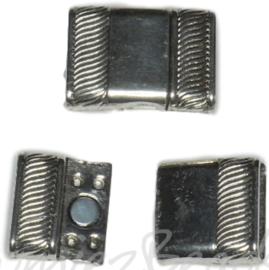 02712 Magneetslot Antiek zilver (Nikkelvrij)  1 stuks
