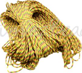 PARA-4005 Parakoord Geel-oranje-groen 4mm 6 meter