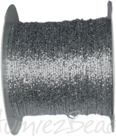 C-0079 Koperdraad met draad omwikkeld Zilverkleurig 0,5mm 100 meter